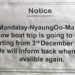 Où réserver le bateau local / slow boat Mandalay – Bagan