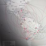 Route map des compagnies aériennes en Amérique du Sud : LATAM, Skyairlines, Aerolinas