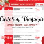 Carte SIM 4G prépayée en Thaïlande : combien ça coûte ? Où en acheter ?