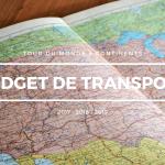 Budget de transport total Tour du monde 2017 – 2019 – 20 pays traversés en 24 mois