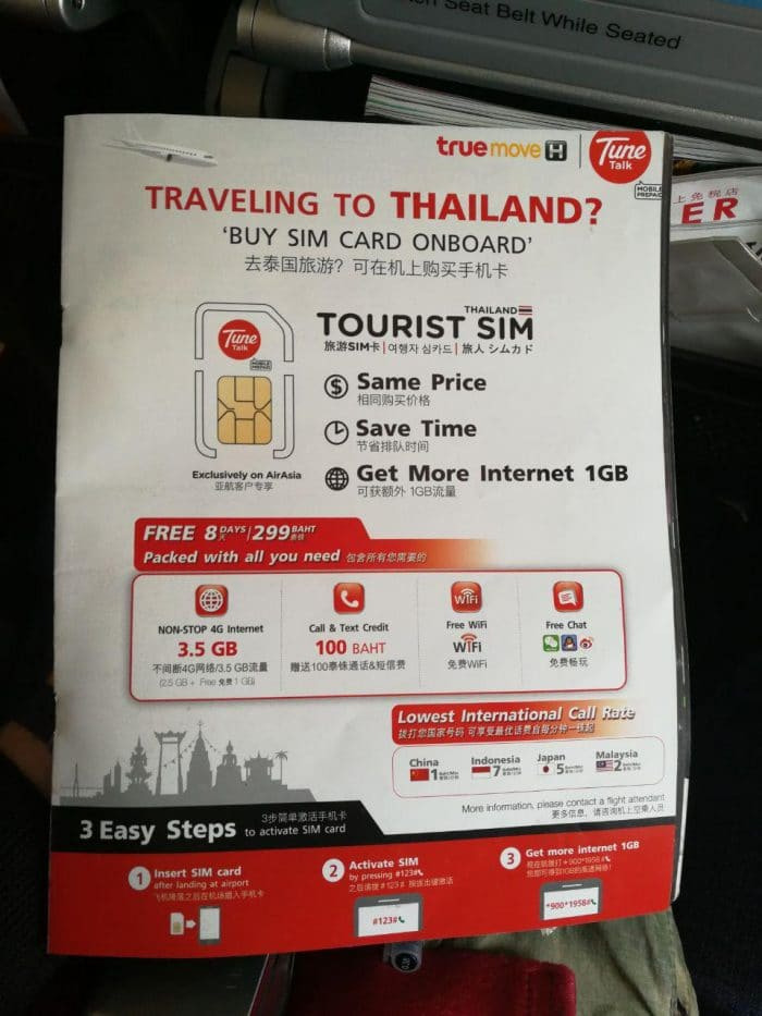 Thailande Carte Langues.Carte Sim 4g Prepayee En Thailande Combien Ca Coute Ou En Acheter